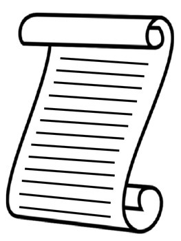 Constitution Day Writing Scroll