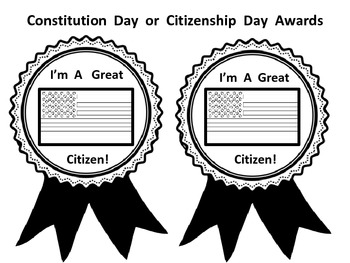 Constitution Day and Citizenship Day Awards