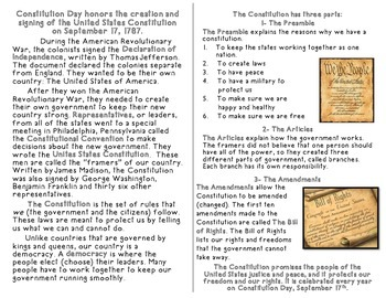 Constitution Day Activities and Minibook