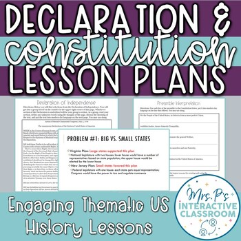 Founding Docs: Constitution & Declaration of Independence US History Lessons