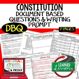 Constitution Document Based Questions DBQ (American History)