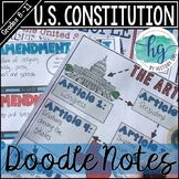 Constitution Doodle Notes and Digital Guided Notes