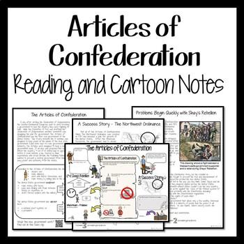 Constitution Cartoon Notes Bundle