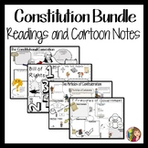 Constitution Cartoon Notes Bundle