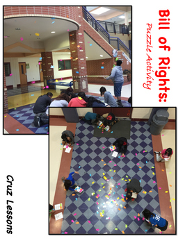 Constitution Era, Bill of Rights, Puzzle Piece Activity