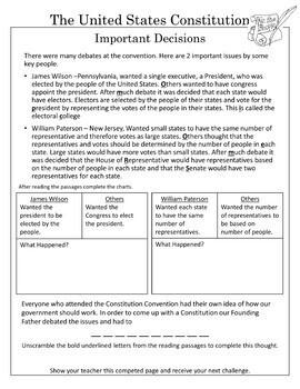 Constitution Escape the Classroom Activity