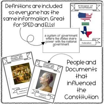 Constitution Flashcards Activity