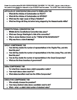 Constitution Foldable Project/Summative Assessment