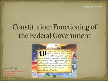 Constitution Functioning of the Federal Government