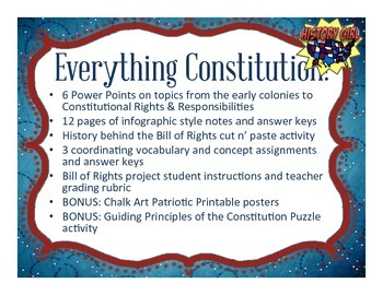 Constitution & Government: Complete Unit Bundle!