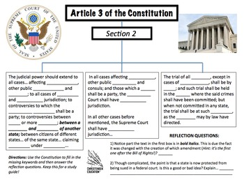 Constitution Graphic Organizers BUNDLE of SIX
