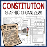 Constitution Graphic Organizers - Constitution Worksheets
