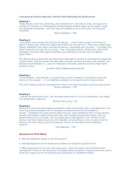 US Constitution Handout