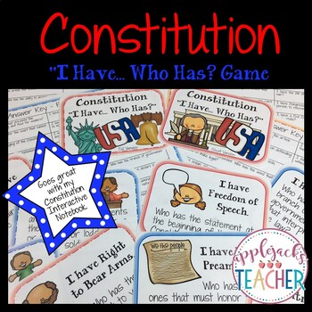Constitution - I have...Who has? Game