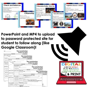 Constitution Guided Notes and PowerPoints American History, Google