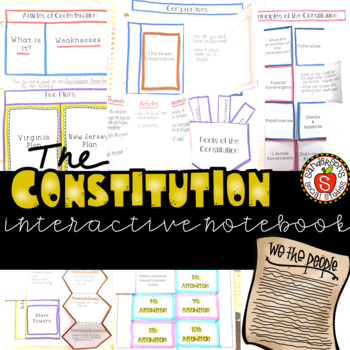 United States Government - Constitution Interactive Notebook