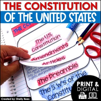 Constitution Day Activities - Interactive Notebook and Mini Unit