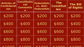"Constitution ""Jeopardy"""