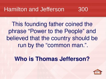 Constitution Jeopardy Game