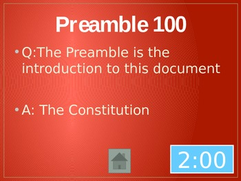 Constitution Jeopardy Review Game