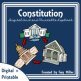 Constitution Digital Unit | US Government Printable Lapbook | Distance Learning