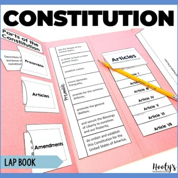Constitution Lapbook by Hooty's Homeroom