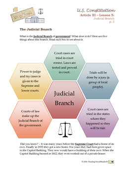 Constitution - Lesson 5 - Article III - Judicial Branch
