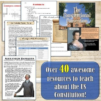 Constitution Unit Lesson Set