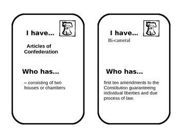 Constitution Looping Cards