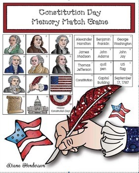 Constitution Memory Match Game