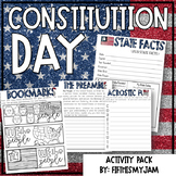 Constitution Day Mini-Activity Pack with Editable Bingo Cards
