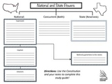 Constitution National & State Powers Graphic Organizer