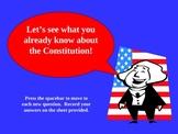 Constitution PowerPoint Prequiz