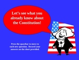 Constitution PowerPoint Prequiz
