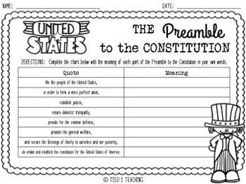 preamble worksheet resultinfos. Black Bedroom Furniture Sets. Home Design Ideas