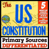 Constitution Primary Sources! 5 DIFFERENTIATED Warmups for any Constitution Unit