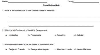 Constitution Quiz