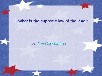 Constitution PowerPoint Quiz