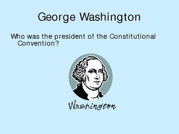 Constitution Quiz - PowerPoint