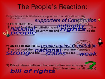 Constitution Ratification - PowerPoint