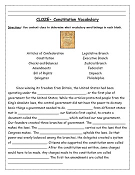 Constitution Reading Packet