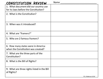Constitution Review Activity