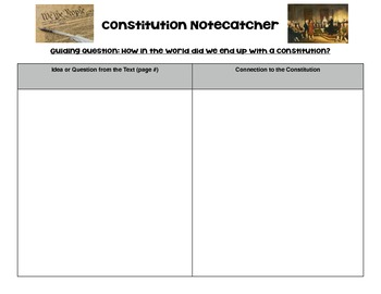 Constitution Scaffolded Notes!