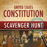 Constitution Scavenger Hunt Activity | Primary Source Analysis | + Google Forms