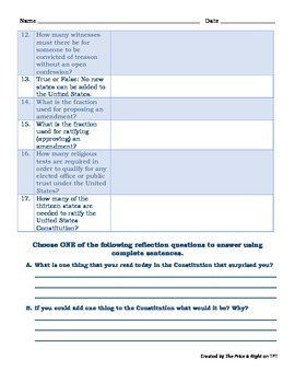 Constitution Day Differentiated Scavenger Hunt and Moving Scoot Game- You Pick!