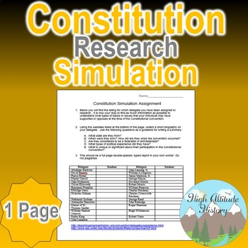 Constitution Simulation Research Project