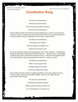 Constitution Song  Great For Social Studies US History MP3 and PDF