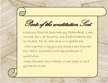 Constitution Sort