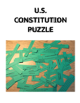 Constitution Sorting Puzzle