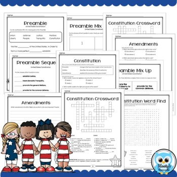 Constitution: Supplemental Worksheets & Activities